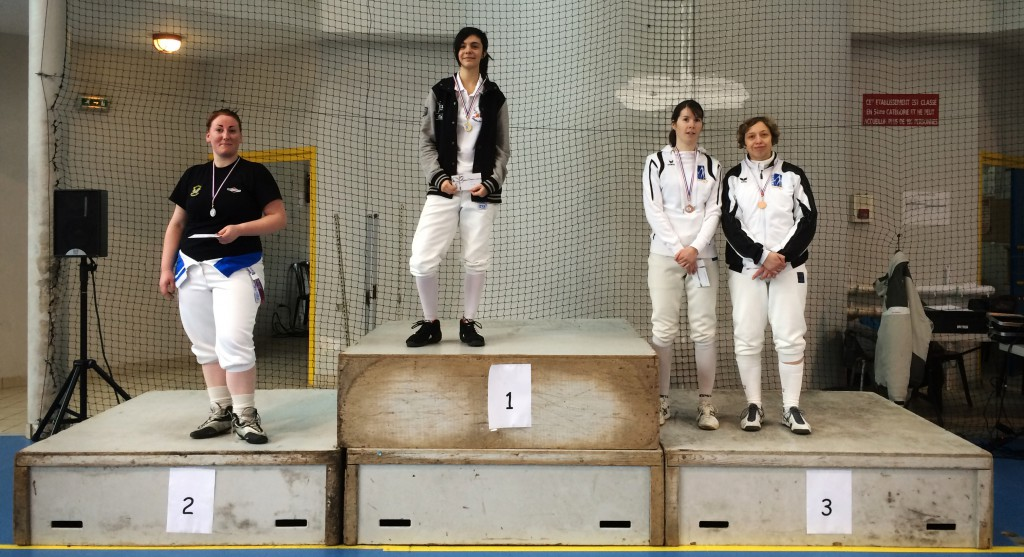 Podium Sabre Dames